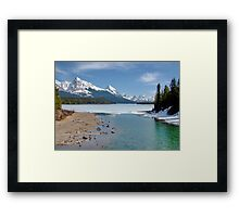 Maligne Lake, Canada (please view large) Framed Print