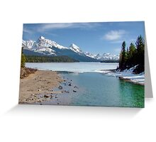 Maligne Lake, Canada (please view large) Greeting Card