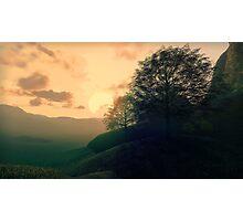 3D Landscape : Savannah - Valley Photographic Print