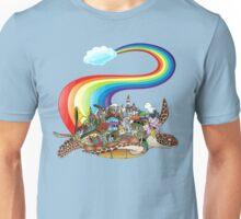 Flying Rainbow Turtle Unisex T-Shirt