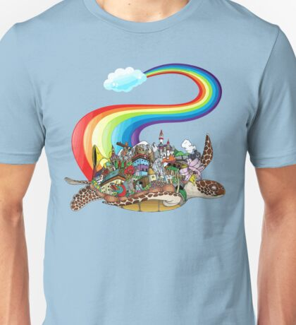 Flying Rainbow Turtle Unisex T-Shirt