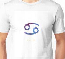 Cancer Zodiac Symbol Watercolour Illustration (Star Sign) Unisex T-Shirt