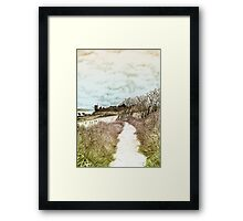 Coastal path at Crail in Fife, Scotland [Colour version] Framed Print
