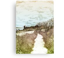Coastal path at Crail in Fife, Scotland [Colour version] Canvas Print
