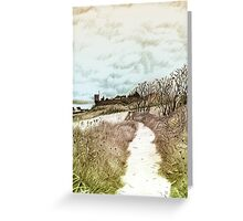 Coastal path at Crail in Fife, Scotland [Colour version] Greeting Card