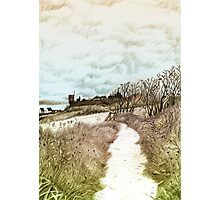 Coastal path at Crail in Fife, Scotland [Colour version] Photographic Print