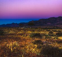 The colours of a Flinders Ranges sunset, South Australia by Elana Bailey
