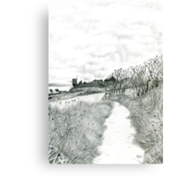 Coastal path at Crail in Fife [ East Coast of Scotland] [Pencil version] Canvas Print