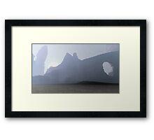 3D Landscape : Labirint - Rocky Ways Framed Print
