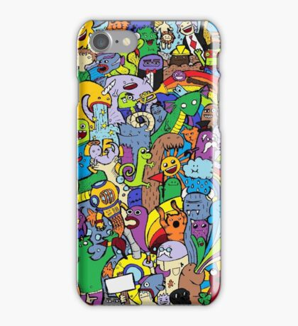 Colored doodle iPhone Case/Skin