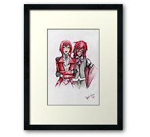 Red Blood, Red Love Framed Print