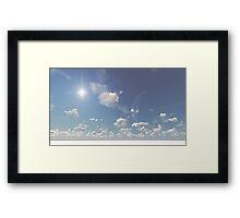 3D Landscape : Sky Moon - Brothers Framed Print
