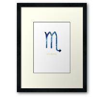 Scorpio Zodiac Symbol Watercolour Illustration (Star Sign) Framed Print