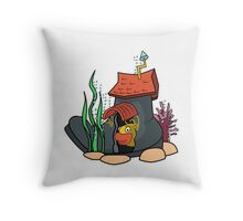 House in the boot under the sea Throw Pillow