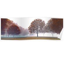 3D Landscape : Old Land - Orange Hills Poster
