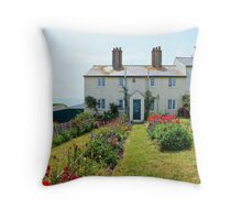 Cuckmere Cottages, East Sussex Throw Pillow