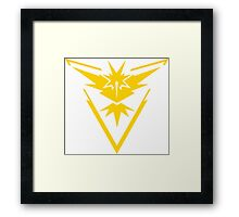 Pokemon GO Team Instinct Framed Print