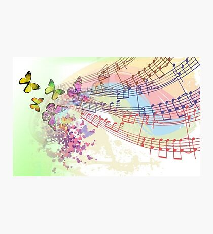 Musical notes - Note Musicali Photographic Print