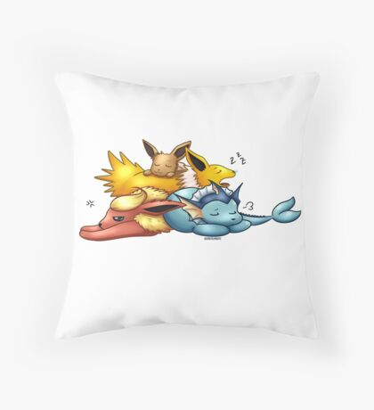 Sleeping Pups Throw Pillow