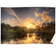 Sunset at Appletree Cottage, Adelaide Hills Poster