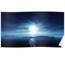 3D Landscape : Lost Islands - Moon Path Poster
