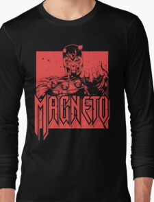 Magneto - Red Long Sleeve T-Shirt