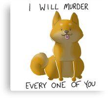 Murder Shibe Canvas Print