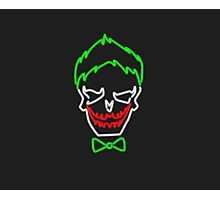 Neon Joker Sign Photographic Print