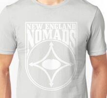 Nomads shield, full chest, white Unisex T-Shirt