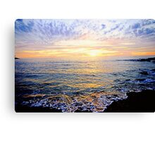 A Lacy Shoreline - OSullivan Beach Canvas Print