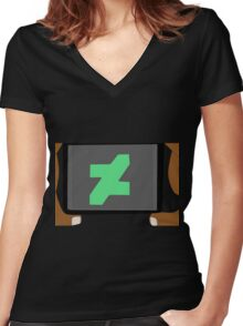 Deviantart Photographer Dark Skin Women's Fitted V-Neck T-Shirt