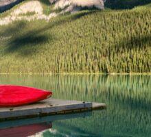Lake Louise Canoes Sticker