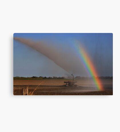 Irrigation Rainbow Canvas Print