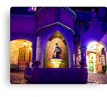 Cinderella's Fountain at Night Canvas Print