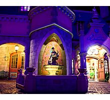 Cinderella's Fountain at Night Photographic Print