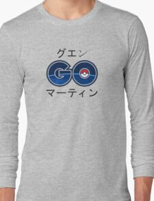 Cool Pokemon GO Japanese Text Long Sleeve T-Shirt