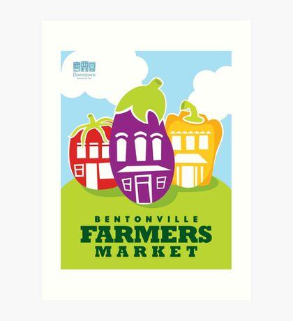 Bentonville Farmers Market Poster Art Print