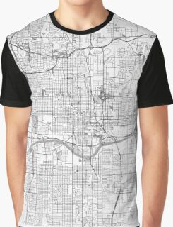 Oklahoma City Map Line Graphic T-Shirt