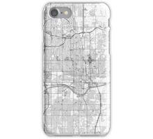 Oklahoma City Map Line iPhone Case/Skin