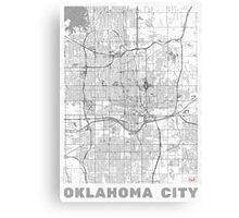 Oklahoma City Map Line Canvas Print