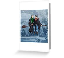 Drarry - Snow Escape Greeting Card