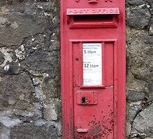 Traditional Red British Post Box in Wall [Royal Mail] by Grant Wilson