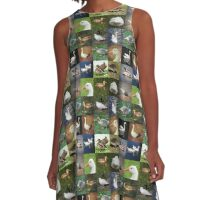 Photo Patchwork - Birds A-Line Dress