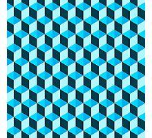 Blue 3D Background  Photographic Print