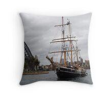 The Tall Ship & Sydney Harbour Bridge Throw Pillow