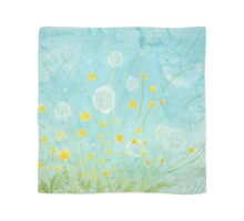 Bright beautiful dandelions blowing in the breeze Scarf