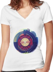 Journey Into Imagination Sign from EPCOT at Walt Disney World Women's Fitted V-Neck T-Shirt