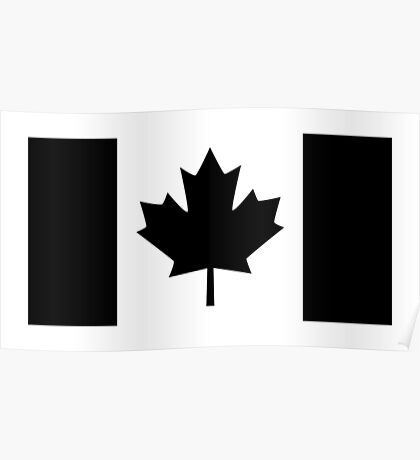 A Black Canadian Flag Version Poster