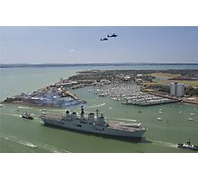 HMS Illustrious final return Photographic Print