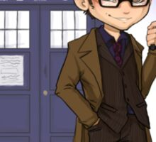 Chibi 10th Doctor Sticker